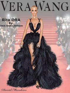 Rita Ora in Vera Wang at 2015 MTV Video Music Awards by David Mandeiro.