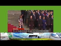 Trump recibido oficialmente en China con elaborada ceremonia
