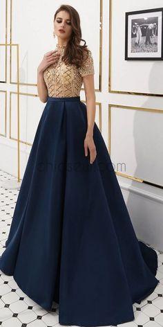 Navy Prom Dresses, Shrug For Dresses, Indian Gowns Dresses, Prom Dresses Long With Sleeves, Indian Fashion Dresses, Gala Dresses, Lace Bridesmaid Dresses, The Dress, Evening Dresses