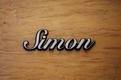 "Aluminium Schriftzug ""Simon"""