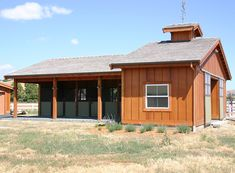 A compact three stall horse barn really interesting design and concept Horse Shed, Horse Barn Plans, Horse Stables, Small Horse Barns, Horse Barn Designs, Barn Layout, Horse Shelter, Sheep Shelter, Goat Shelter