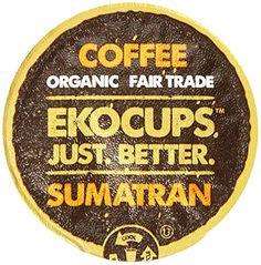 EKOCUPS Organic Artisan Coffee, Sumatran, Dark roast for Keurig K-cup single serve Brewers, 40 count - http://goodvibeorganics.com/ekocups-organic-artisan-coffee-sumatran-dark-roast-for-keurig-k-cup-single-serve-brewers-40-count/