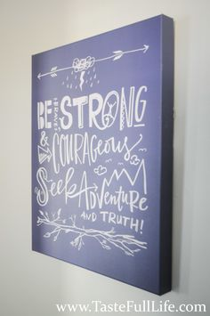 Be Strong Chalboard