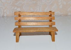 Wood Park Bench Wooden Bench Supplies Small Bench by WVpickin