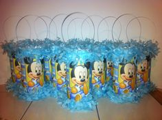 Baby Mickey Mouse 1st Birthday Mini Pinata Party Favor/Goodie Bag