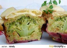 Brokolicové muffiny recept - TopRecepty.cz Healthy Snacks, Healthy Recipes, 20 Min, Cooking Light, Vegan Vegetarian, Broccoli, Cabbage, Good Food, Brunch