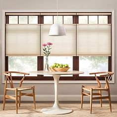 The Real Simple Top-Down Bottom-Up Cordless Cellular Light Filtering Shade softly filters and diffuses light while providing substantial privacy. And since the shade is cordless it provides improved safety for homes with children and pets.
