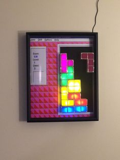 Put a Tetris desk lamp into a display case. Much more satisfying.
