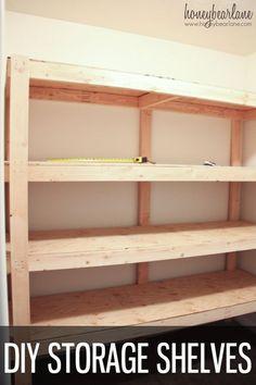 DIY Storage Shelves. Storage Room IdeasGarage ...