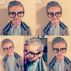 These Kids Dressed Up As Are Too Cute To Handle These Kids Dressed Up As Are Too Cute To Handle<br> They're old at heart. Kids Old Man Costume, Old Man Halloween Costume, Old People Costume, Kids Costumes Boys, Boy Costumes, Dress Up For Boys, Men Dress Up, Old Man Makeup, 100 Year Old Man