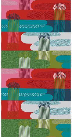 Marimekko fabrics - Buy online from Finnish Design Shop. Discover Unikko and other Marimekko fabrics for a modern home! Motifs Textiles, Textile Patterns, Textile Prints, Lino Prints, Block Prints, Design Textile, Fabric Design, Print Design, Surface Pattern Design
