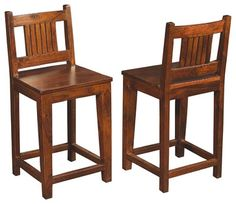 Solid Wood Counter Height Stool with Low Back craftsman Bar Stools And Counter Stools