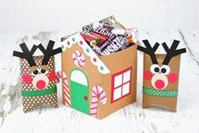 Holiday Treat Boxes - Gingerbread House