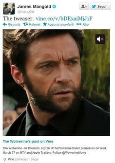 L'hanno già ribattezzato #tweaser ed è l'ultima frontiera delle news multimediali in mobilità: si tratta del Teaser #Trailer di #Wolverine l'immortale rilasciato direttamente dallo smartphone del regista James #Mangold su #Vine, l'app di Twitter per postare mini-video di 6 secondi... http://tweetblog.blogosfere.it/2013/03/wolverine-limmortale-vine-porta-su-twitter-il-teaser-del-film.html https://twitter.com/mang0ld/status/316221584950038528