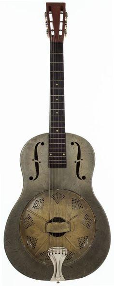 Musical Instruments:Resonator Guitars, 1930 National Duolian Silver Resonator Guitar, #C3290.... Image #1