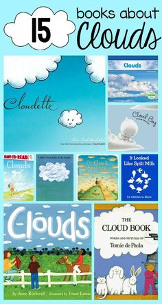 I can implement these books into my grade classroom for emb since we will be completing a weather unit. Books about clouds. Great book list for a weather unit! Weather Activities For Kids, Preschool Weather, Science For Kids, Science Activities, Science Experiments, Weather Kindergarten, Teaching Weather, Weather Crafts, Science Crafts