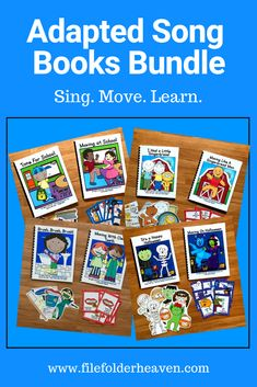 This Adapted Song Books Bundle gets your preschool or students in special education, motivated to learn thematic vocabulary with music and movement. Students sing repetitive text, and practice imitation, movement and gross motor skills in a fun and interactive way! Preschool Songs, Preschool Themes, Preschool Learning, Gross Motor Activities, Gross Motor Skills, Music Education, Special Education, Skills To Learn, Learning Skills