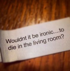 Death humor.