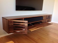 'vivi' handmade walnut media console by mooi.la.