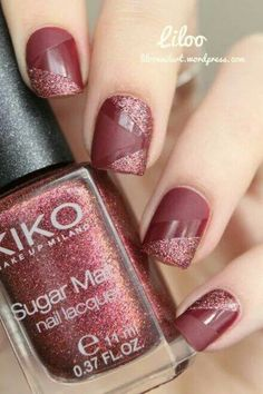 Rose/Mauve with Sparkles and Matte