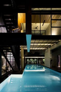 Pool Design - From a house in Singapore designed by Formwerkz Architects | #Pools #InteriorDesign |