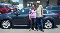 Mr. & Mrs. Wilson with their 2012 Subaru Legacy sedan!