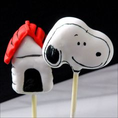 Snoopy Peanuts Cake Pop | Flickr - Photo Sharing!