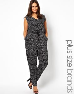 Alice & You Geo Print Jumpsuit V Neck