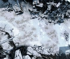 Mountain Winter Trail ice snow The Mad Mapper Crysis Screenshots Crysis Cold 1 (saved) med Fantasy Map, Medieval Fantasy, Fantasy World, Dungeons And Dragons Homebrew, D&d Dungeons And Dragons, Snow Map, Dnd World Map, Pathfinder Maps, Rpg Map