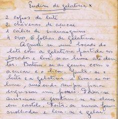 As Receitas da Avó Helena e da Avó Eduarda: Pudim de Gelatina