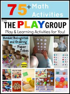 A great round up of fun math activities for kids from Toddler Approved.