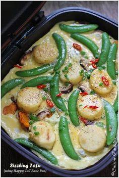 Happy Call Pan Recipes - Baked Sweet Potato, Sizzling Tofu and Claypot Rice Tofu Recipes, Asian Recipes, Baking Recipes, Healthy Recipes, Ethnic Recipes, Easy Recipes, Healthy Food, Happycall Pan Recipe, Flip Recipe
