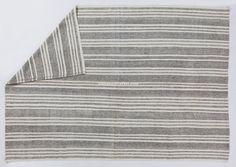 8 x 11 Ft 237x335 cm Ivory & Gray stripes by ArtisansOfTurkey