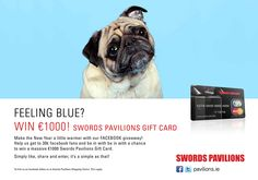 Win €1000 Swords Pavilions Gift Card. To join, simply submit your details on the Facebook app to enter. Facebook Giveaway, Swords, Competition, Projects To Try, Card Making, Join, App, Gifts, Presents