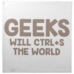 Geeks Rule the World Napkin - kitchen gifts diy ideas decor special unique individual customized