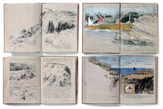 Albrecht Rissler's Drawing Landscape  Sketchbook Ile de Groix, France, 1993 http://drawinglandscape.blogspot.com/