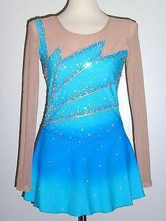 Aliexpress.com: Comprar Competencia de patinaje artístico vestidos azul mujeres patinaje artístico falda competencia boart vestido de patinaje de vestidos de fiesta de cumpleaños desgaste fiable proveedores en skating use customize