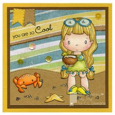 Swiss Pixie Pina Colada, AmyR Stamps Pool Party, C.C. Cutters Make A Card #3 Dies, Sugarplums Beach Kit 2012