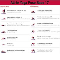 All-in Yoga pose base page 17