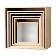 Bloomingville Opbergbox Set van 6 - Wit