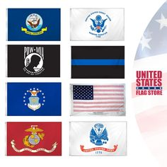 Military and Memorial Flags - U. Military Flags, Military Gifts, Flag Display Case, Flag Store, Military Branches, Support Our Troops, Prisoners Of War, Outdoor Flags