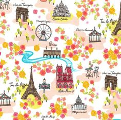 More Michael Miller Paris fabrics - this one is called Day In Paris <3