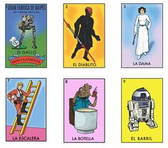 If It's Hip, It's Here: Space Loteria (Star Wars Mexican Bingo) By Chepo Pena Is Now Ready for Purchase!
