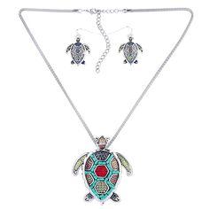Sea Turtle Multicolor Jewelry Set - Free Shipping!
