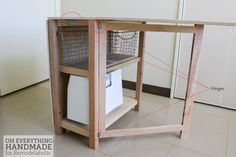 Craft Table made from scrap wood - where to attach hinges