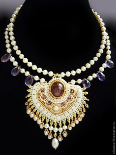 "Necklace beads handmade. Fair Masters - handmade necklace ""Aurum"". Handmade."
