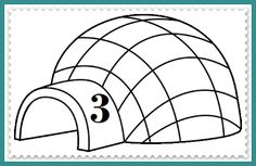 Leg het juiste aantal eskimo's bij elke iglo