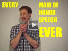 This perfectly depicts what every maid of honor speech sounds like(video)