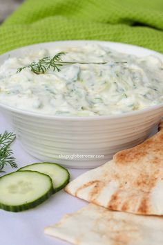 This authentic Greek tzatziki recipe is easy to make and pairs perfectly with just about any dipper! I love using homemade tzatziki sauce to dip pita bread, veggies, or added to Greek gyros! Best Tzatziki Sauce Recipe, Greek Tzatziki Recipe, Homemade Tzatziki Sauce, Tzatziki Recipes, Cucumber Recipes, Cooking Recipes, Healthy Recipes, Ww Recipes, Copycat Recipes