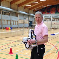 Preparing for a MoveQ school session at Kokkedal School, Denmark